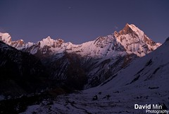Annapurna, Nepal - Mount Machapuchare @Dawn (GlobeTrotter 2000) Tags: trip travel nepal sunset camp vacation mountain fish snow cold tourism ice expedition nature night trekking trek landscape dawn frozen asia heaven outdoor hiking altitude tail dramatic visit glacier adventure mount explore climbing journey sacred summit abc peaks himalaya circuit everest range pokhara base annapurna sanctuary himalayan fishtail himal machapuchare