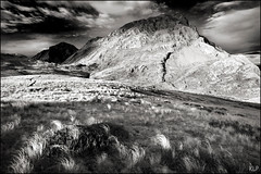 Mt Bell B&W (katepedley) Tags: park new light sunset newzealand blackandwhite bw white mountain black monochrome grass rock contrast canon outdoors evening mt bell dusk hiking south tripod mount zealand national limestone southisland 5d marble owen geology wilderness karst tussock tramping 1740mm massif apline metamorphic gndfilter tasmannz kahurangi monochromia polarsier