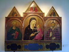 UGOLINO DI NERIO ou DA SIENA (lisabelle3) Tags: pink rose gold christ or madonna jesus gothic virgin triptyque byzantine madone tempera vierge trecento auréole museummusée certaldotoscane religiousarthalo