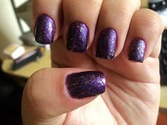 Psico, Risqué + Espectral, Big Universo + Chuva, Ludurana + Cobertura Fosca, Risqué (thaisfartes) Tags: purple metallic nail nails nailpolish unhas matte roxo unha fosco esmaltes esmalte flocado flakies