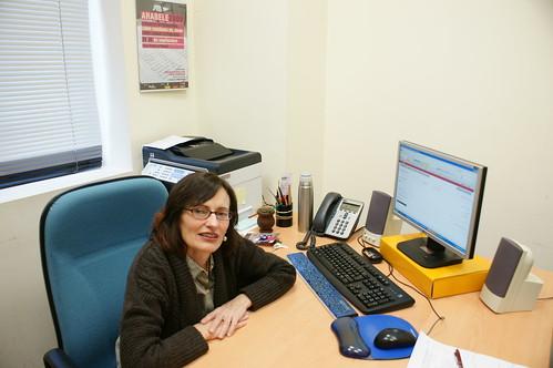 Aguilar en su despacho de la Facultad de Letras
