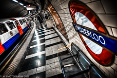 The Passenger [EXPLORED] (Aaron Yeoman) Tags: uk greatbritain blue red england urban london lines station sign yellow metal architecture modern train europe unitedkingdom sony transport perspective platform railway line transportation gb tubestation londonunderground alpha curve vignetting vignette hdr highdynamicrange thetube tubetrain lul theunderground bakerlooline metrotrain a700 undergroundtrain waterlooundergroundstation tamronspaf1750mmf28xrdiii railtransport sonyalpha700 waterlootubestation dslra700
