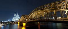 C o l o g n e (ƇĦŘĺς ΛΨŁЩΛŘĐ ƤĦŎŦŎƓƦΛƤĦϔ) Tags: christmas bridge winter tower night germany lights long exposure cathedral trails cologne trail dusseldorf rhine skylinne hdcymru