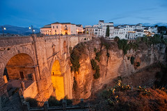 Ronda, Mlaga (Spain) (marcp_dmoz) Tags: lighting bridge espaa puente spain nikon view canyon andalucia sierra ronda vista bluehour aussicht nikkor andalusia 1735mmf28d brcke tajo andalusien malaga nuevo spanien beleuchtung anochecer iluminacion caon guadalevin serrania d700 gettyimagesiberiaq3