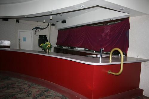 Curved lobby bar