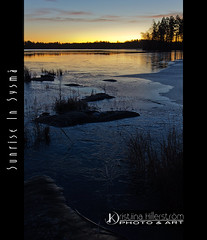 Sunrise In Sysmä (Chrisseee) Tags: morning winter lake ice sunrise canon finland landscape frozen tripod sysmä kristiinahillerström chrisseee joutsjärvi
