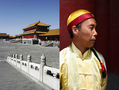 forbidden city - china (Emmanuel Catteau photography) Tags: china city travel portrait man history tourism architecture holidays asia photographer dress politics reporter beijing palace forbidden national journey planet imperial conde lonely local tradition geo ming geographic dynasty emperor nast servant qing catteau wwwemmanuelcatteaucom eununque