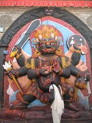 Kala (Black) Bhairab (ojoqtv) Tags: nepal kathmandu shiva durbarsquare bhairab