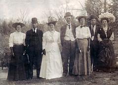 Group Photo 1890's (kevin63) Tags: photoshop photo women antique group hats restoration sheriff lightner 1890s 1900sbadgederby