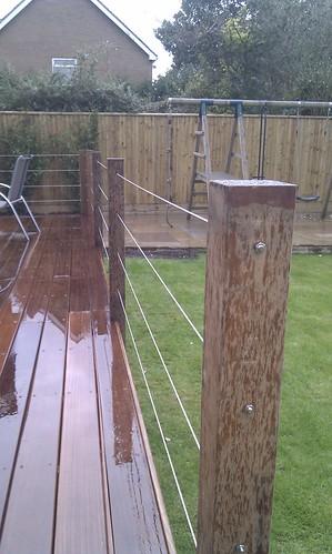 Hardwood Decking Alderley Edge - Modern Family Garden. Image 23