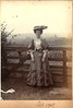 """Unknown Edwardian lady standing at a gate, September 1907 • <a style=""""font-size:0.8em;"""" href=""""http://www.flickr.com/photos/24469639@N00/6628676623/"""" target=""""_blank"""">View on Flickr</a>"""