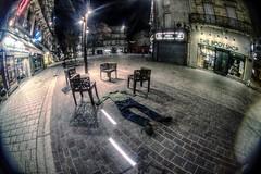 No-nude Facedown (n0n0ph0t0) Tags: street night nude fun absurd no fisheye m42 tuesday 8mm hdr b