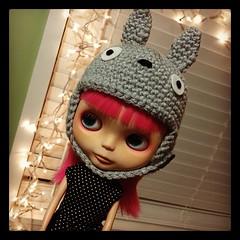 totoro blythe hat helmet thing done