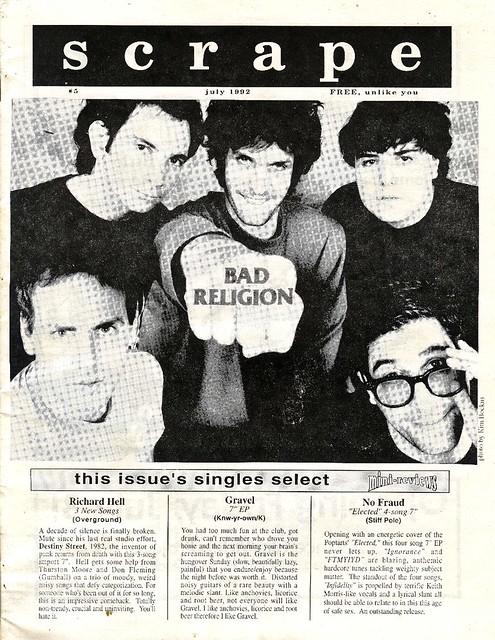 Scrape Zine #5 - 1992 (front cover)
