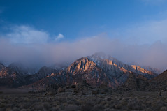 Sunrise, Lone Pine Peak - 12 (debunix) Tags: sunrise alabamahills lonepinepeak cmwdblue