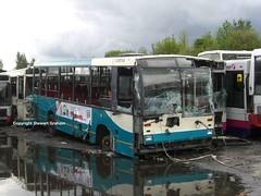 Early Dart G123RGT (MCW1987) Tags: barnsley bus scrap yard reflection