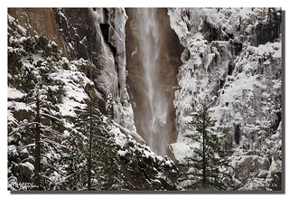 Icy and Frosty Bridalveil Fall, Yosemite NP, CA
