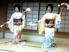 Geiko Terukoma and Geiko Mahiro (mizuki122) Tags: japan kyoto maiko geiko geisha kimono