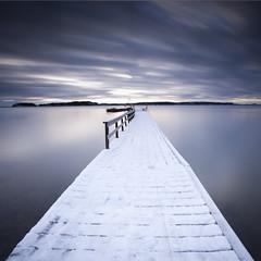 Blue Hours.. (Peter Levi) Tags: ocean longexposure sea snow color clouds pier sweden stockholm le nd nd110 bestcapturesaoi elitegalleryaoi mygearandme ringexcellence dblringexcellence tplringexcellence eltringexcellence