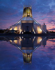 Reflective Cathedral (juliereynoldsphotography) Tags: liverpool canon twilight catholic cathedral 5d juliereynoldsphotographycouk
