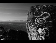 Three Rivers Petroglyph (glasshalffull91) Tags: new light shadow people bw white mountain signs black animals rock stone writing 35mm canon mexico eos three nikon desert bureau picture carving hike signals management filter rivers nd land nikkor petroglyph mn f25 3525 glyph cpl density blm 500d nd4 2535 of anchent netural f25e