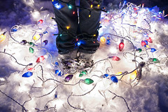 Courtney Ward, Light up the night. (Ian Fidino!) Tags: christmas xmas light snow cold feet colors up night ian outside photography lights shoes colorful pants courtney converse ward fidino
