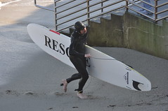 Rescue Surfer at La Jolla Cove (Thank You 7.5 Million Visitors!) Tags: ca people surfer lajolla pacificocean sandiegoca lajollacove largewaves pamelaschreckengost pamschreckcom