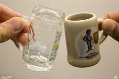 Cheers! (3rddlo) Tags: beer miniature shot bruxelles mini oktoberfest mug brussel shotglass beermug