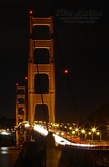 Golden Gate Bridge at Night (hirosfca) Tags: sanfrancisco nightshot goldengatebridge marinheadlands 70200mmf28lii