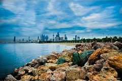 Kuwait - Shuwaikh Beach (Abdulaziz ALKaNDaRi | Photographer) Tags: blue sky fish seascape colour beach water rock canon outdoors photography eos boat high fishing gulf view shot harbour quality east photograph arab arabia kuwait arabian middle ef 2012 shuwaikh q8 waterscape kwi البحر landchaft abdulaziz عبدالعزيز شاطئ الشويخ بحر kuw 550d المصور شويخ t2i الكندري alkandari blinkagain abdulazizalkandari