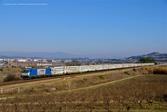Blau hivernal (Explore) (Pol-Llopart) Tags: france train tren baking spain eisenbahn railway zug db via silla catalunya railways treno ecr tarragona trein cotxes teco portbou frutero 253 c4 ferrocarril vilafranca traxx catalans mercancias ferrocaril fruiter zuge subirats mercancas mercaderies mercant comsa polllopart