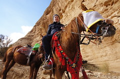 Out in the Petra mountains with the lovely Hashem (Limoene) (CharlesFred) Tags: horse petra jordan hosam petramountains horserdiing