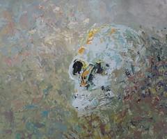 Skull - Kallo (Terhi Hulkko) Tags: colour art painting skull oil pintura maalaus terhi kallo mlning pkallo ljyvri hulkko