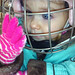 "Eliza at Learn-to-Skate in Saranac Lake. ""Let's see--how can I get this snow to my mouth?"" Photo: Dona Endries."