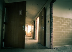 Choices (Jack Wassell) Tags: old light shadow abandoned hospital insane doors decay entrance haunted creepy doorway choices asylum mental sigma1020mm