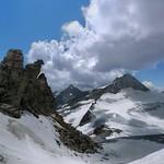 Gefrorene-Wand-Spitzen reaching the clouds