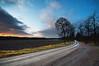 Wet road (- David Olsson -) Tags: trees sunset nature wet field clouds landscape alley nikon december sweden sigma dirtroad 1020mm avenue 1020 värmland 2011 d5000 segerstad davidolsson 2exposuremanualblend ginordicjan12