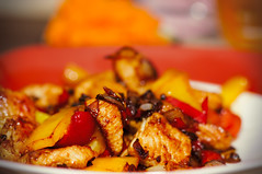 hot chilli chicken (salendron) Tags: food hot chicken essen cook chilli pute kochen cookinggeeks