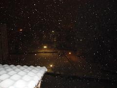 Tutto questo coraggio non  neve; (Iridescentmind;) Tags: roof winter snow night snowflakes lights tetto neve luci inverno notte lampioni fiocchi