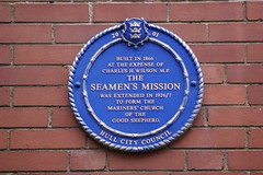 Photo of Seamen's Mission blue plaque