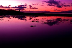 Dusk (overgraeme) Tags: pink sky reflection castle beach water silhouette night clouds canon reflections landscape mirror evening coast scotland colours purple bright dusk scottish cliffs shore 7d ayr waterscape ayrshire ayrshirecoast doonfoot canoneos7d