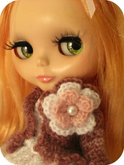 PRUDENCE PEACH:  Close-up of my crochet