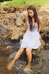 (Alannah Grace) Tags: blue lake water girl rocks