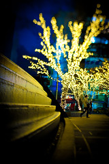 Tokyo MidTown (A7design1) Tags: city people man reflection lights tokyo cityscape christmaslights midtown nostalgia      pcemicronikkor45mmf28ed