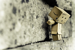 Danbo - Rock Climbing (EMagination911) Tags: sports rock toy robot box mountainclimbing rockclimbing danbo revoltech danboard