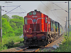Hyb-aii super express with mly twins (Raj Kumar (The Rail Enthusiast)) Tags: canon indian express hyderabad railways ajmer bhopal wdm2 wdm3 sx30is