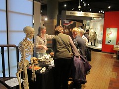Andy, Dr W and visitors discovering osteology