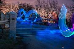 Lighting Painting Fun {Explored #2} (Gareth Brooks) Tags: longexposure light lightpainting nikon long exposure lp elwire v24 d90 lenser nikond90 lightjunkie 18105mmlens