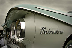 Belvedere (Albert S. Bite) Tags: show door classic car metal sedan vintage emblem logo typography automobile clinton 4 letters rally plymouth hills chrome american badge fancy letter vehicle belvedere saloon logos aston chiltern 1960 chromeography 150511