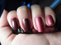Matt suede review (Life in Lacquer) Tags: pink red art glitter matt nail polish nails suede nailart varnish revlon notd invogue